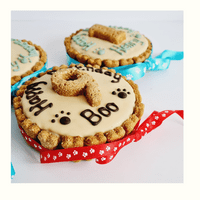 Personalised Dogs Birthday Cake - Brown